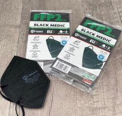 Hengityssuojain FFP2 Black Medic 2 kpl 2 kpl